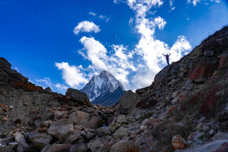 About to reach the top - Gaumukh Tapovan Trek