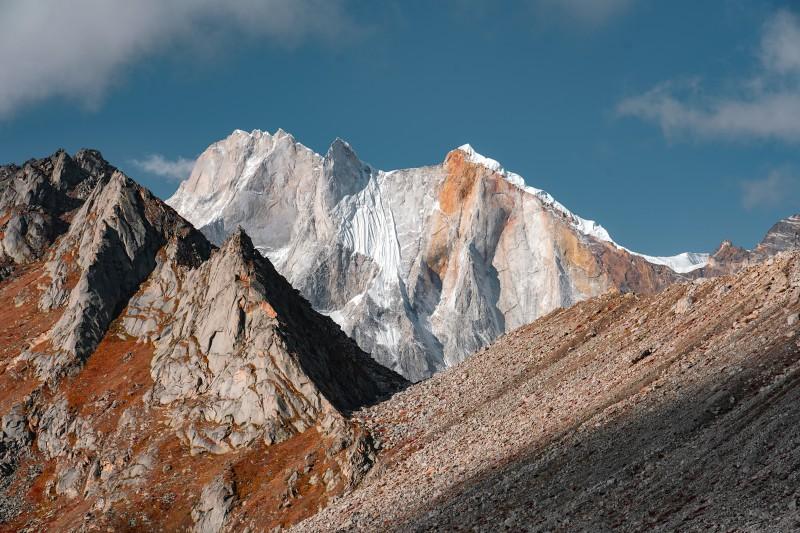 Mt. Meru seen from Tapovan - Gaumukh Tapovan Trek