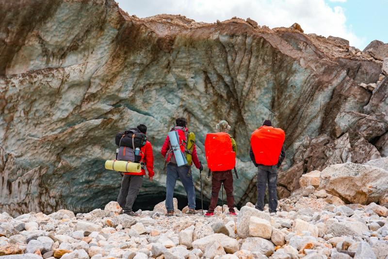 Admiring the glacier - Gaumukh Tapovan Trek