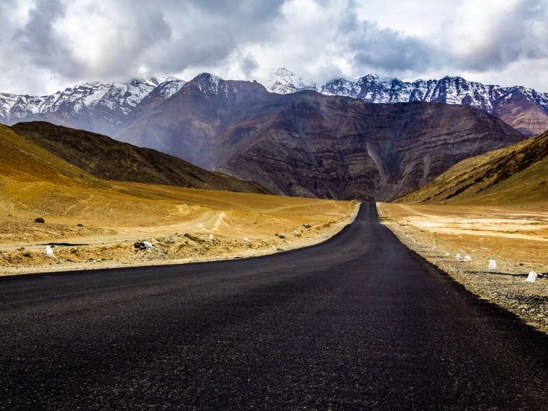 Magntetic Hill Road in Ladakh