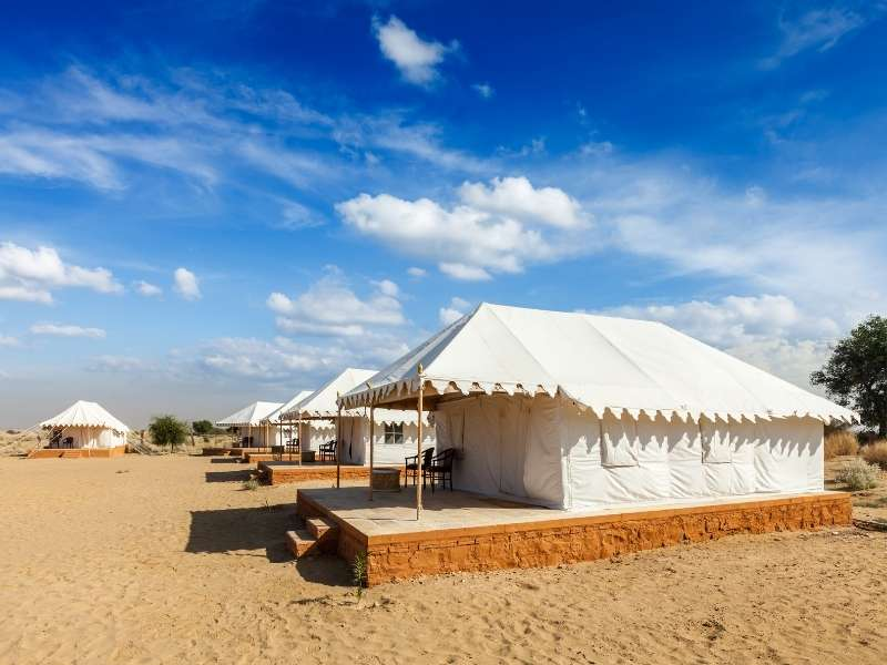 Camping at Sam Sand Dunes, Jaisalmer